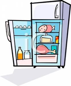 Refrigerator pencil and in. Fridge clipart cartoon