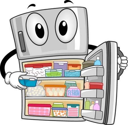 Fridge clipart clean refrigerator. You re doing it