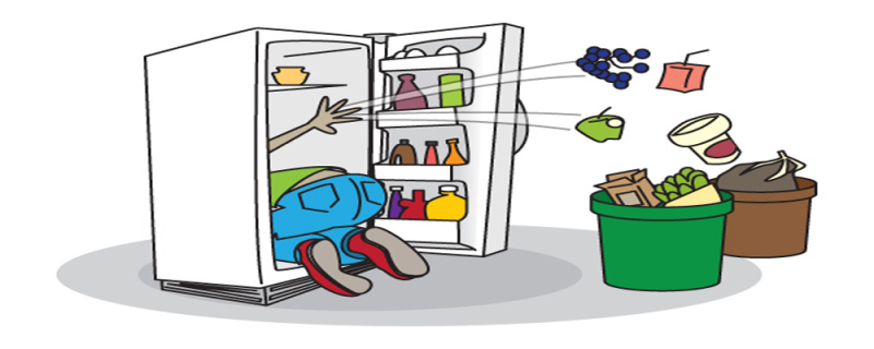 Kitchen cartoon cleaning product. Fridge clipart clean refrigerator