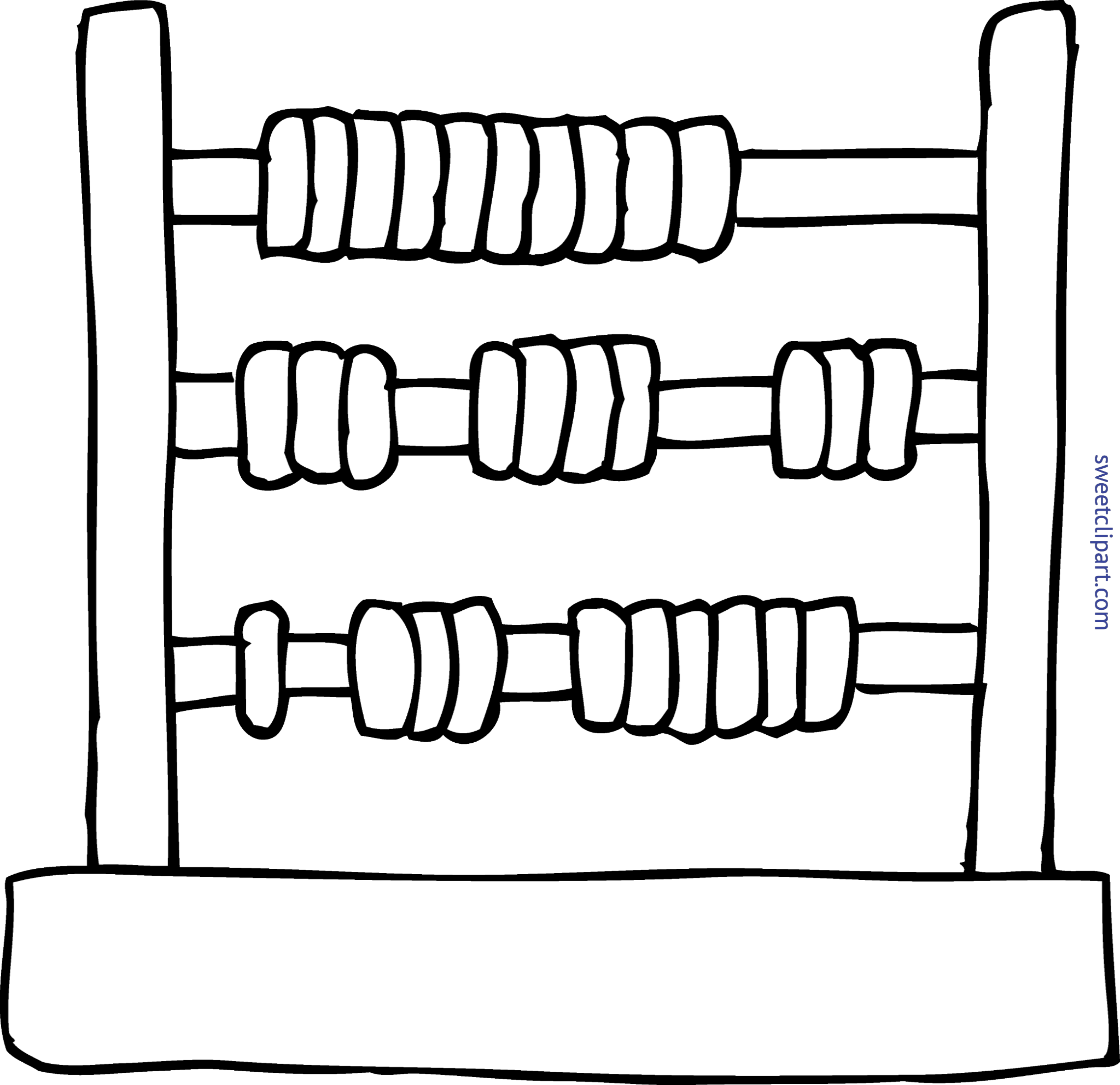 Pie clipart coloring page. Abacus clip art sweet
