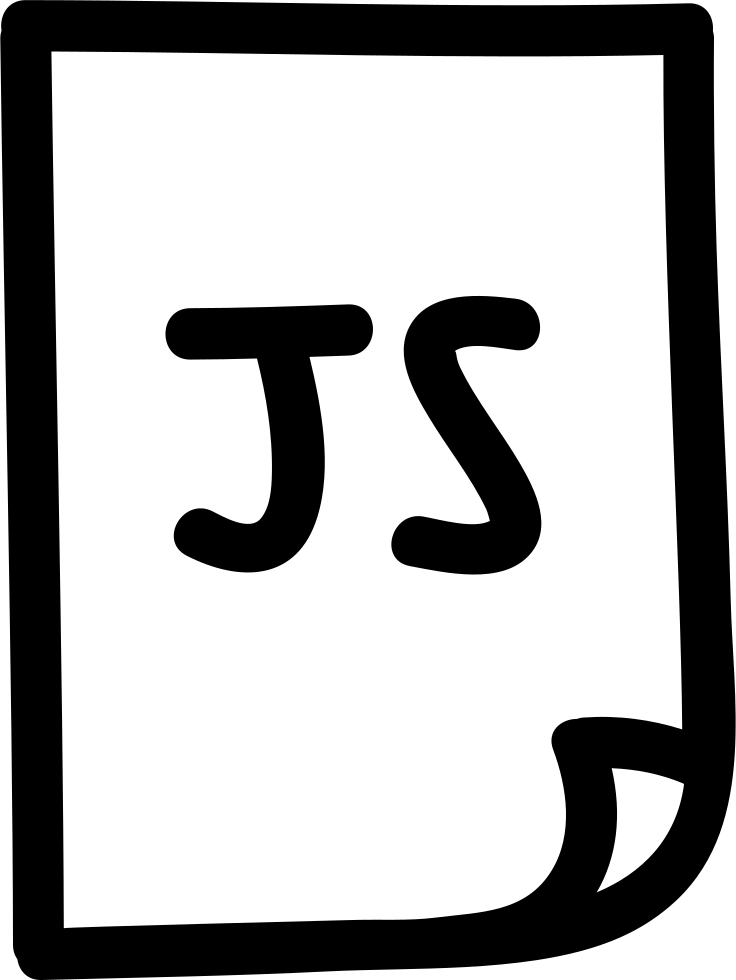 Java script hand file. Fridge clipart drawn