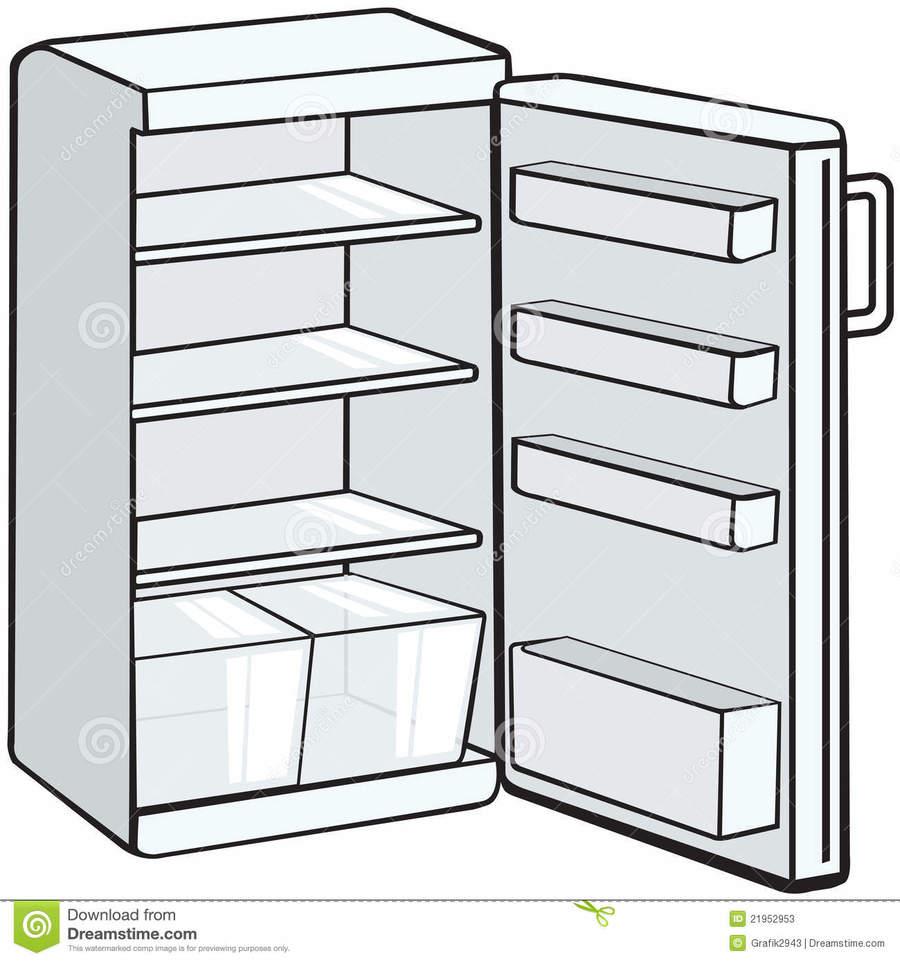 Fridge clipart empty. Download cartoon refrigerator clip