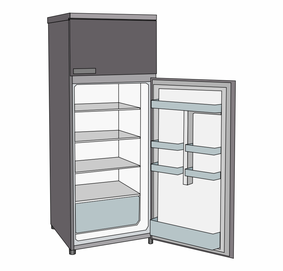 Fridge clipart empty. Png transparent library collection