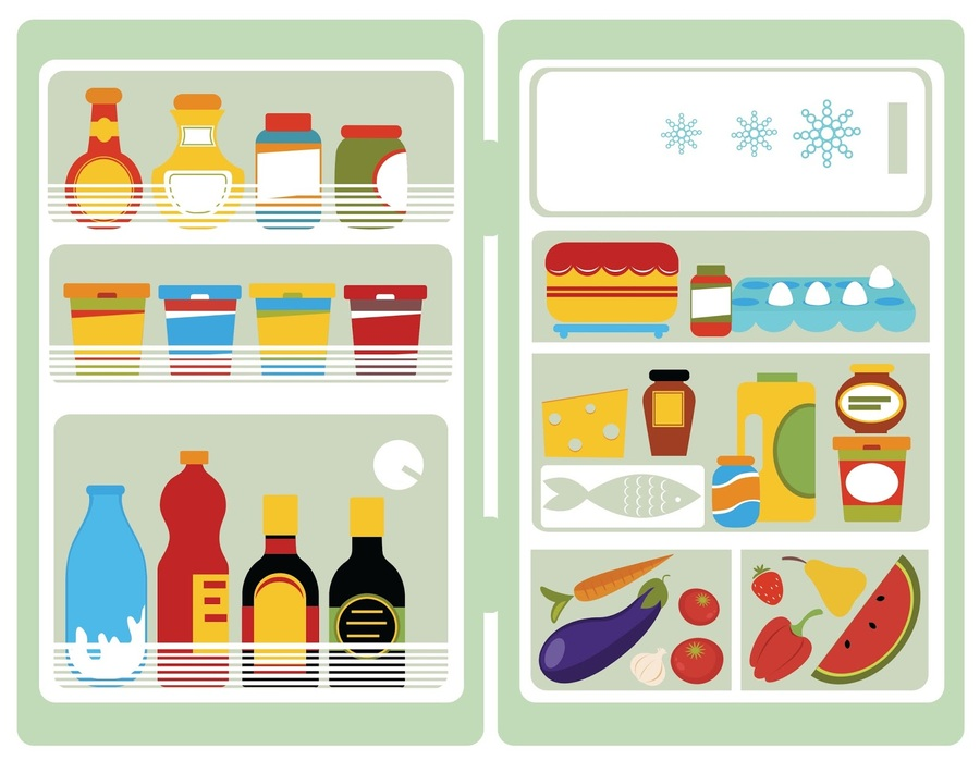 Fridge clipart food clipart. Download open with refrigerator
