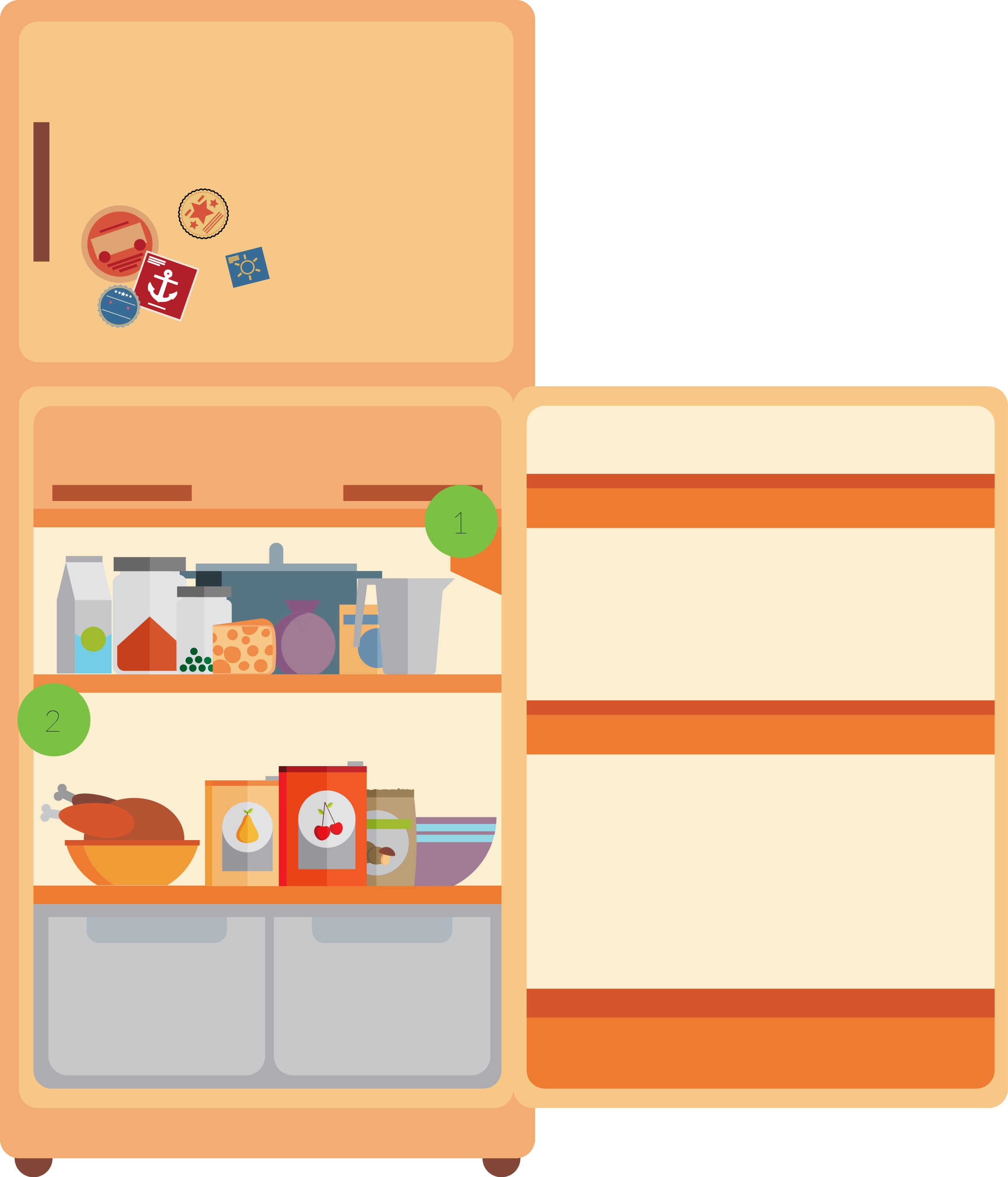 Fridge clipart food inside. How to store in