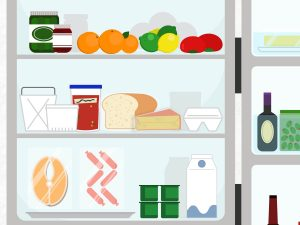How to organize your. Fridge clipart food inside