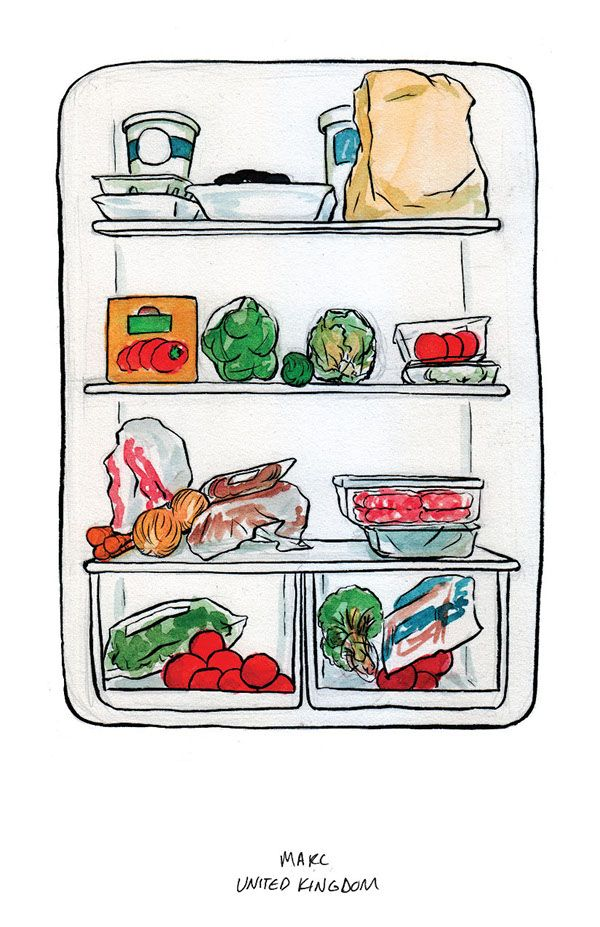 Fridge clipart food inside. What s in your
