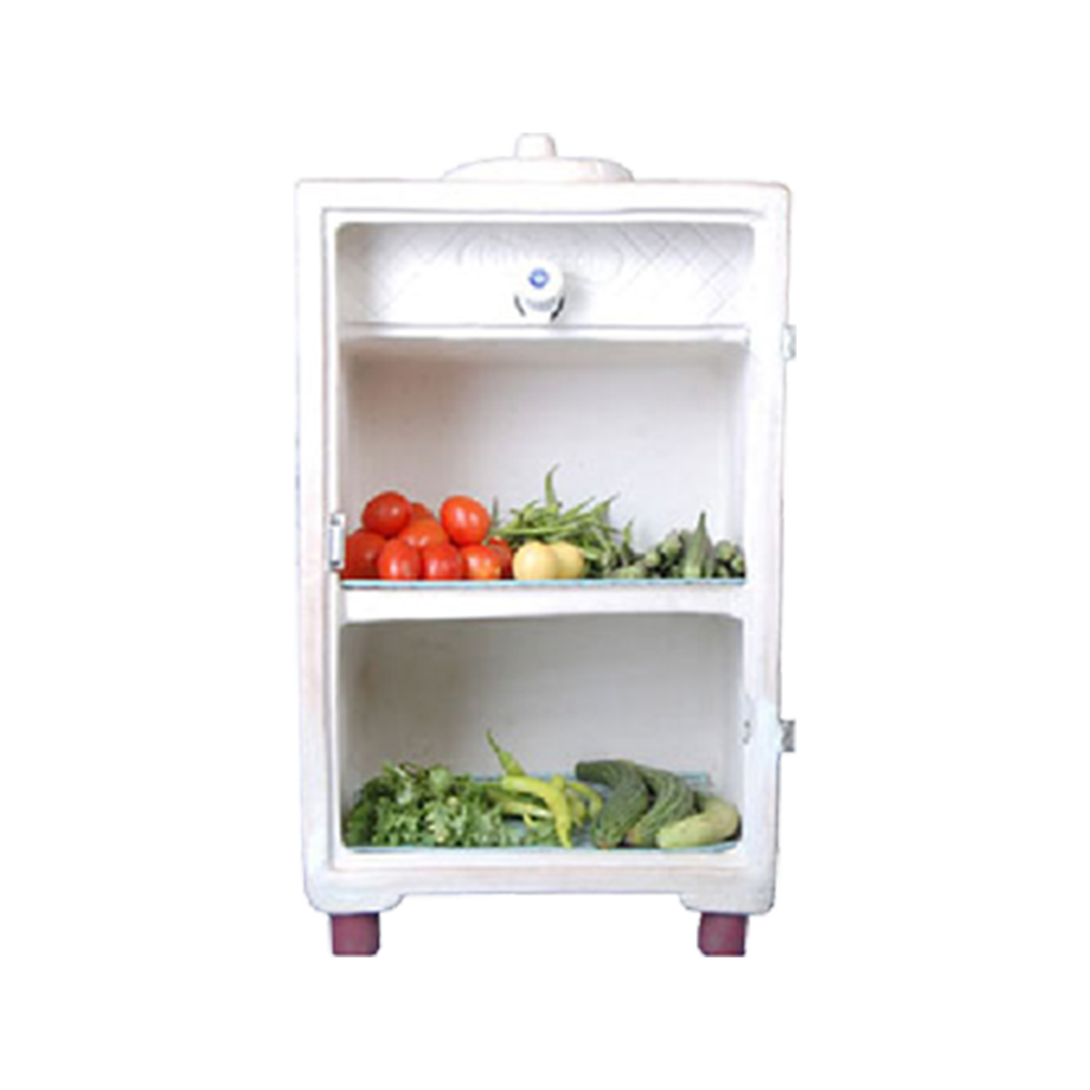 Mitticool clay refrigerator runs. Fridge clipart food inside
