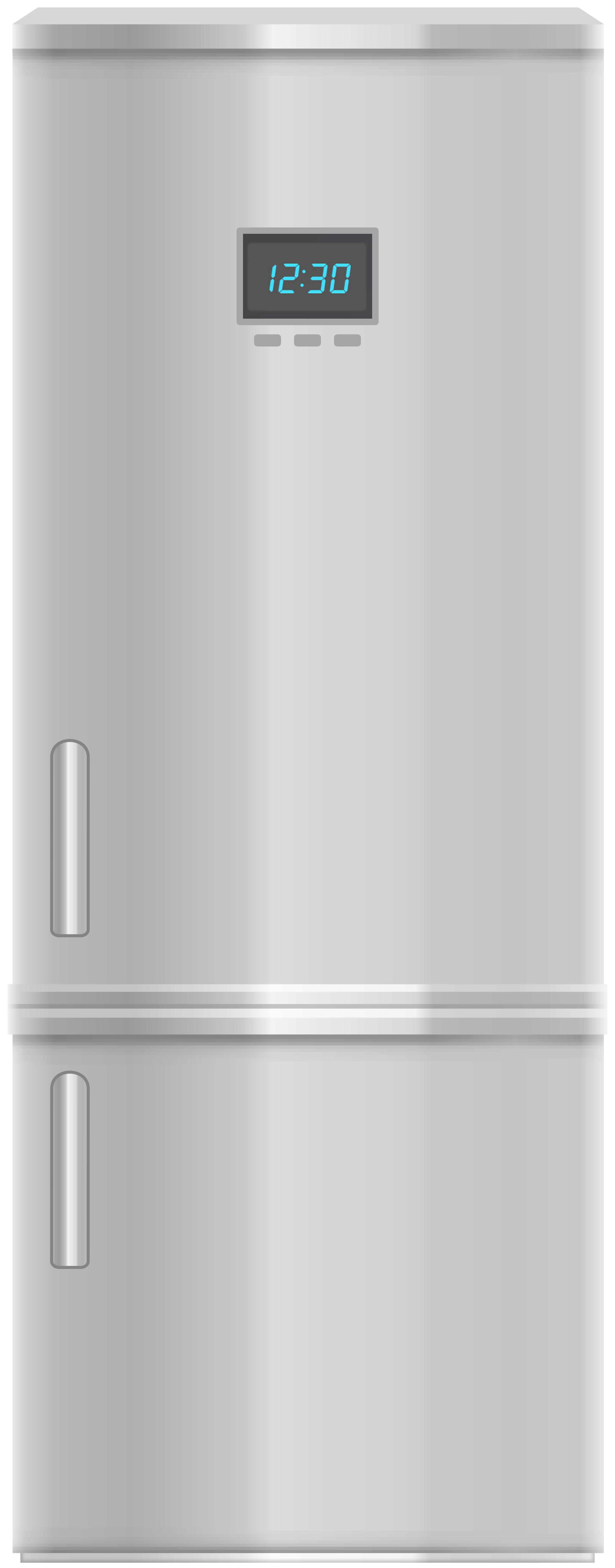 Freezer inox png clip. Fridge clipart fride