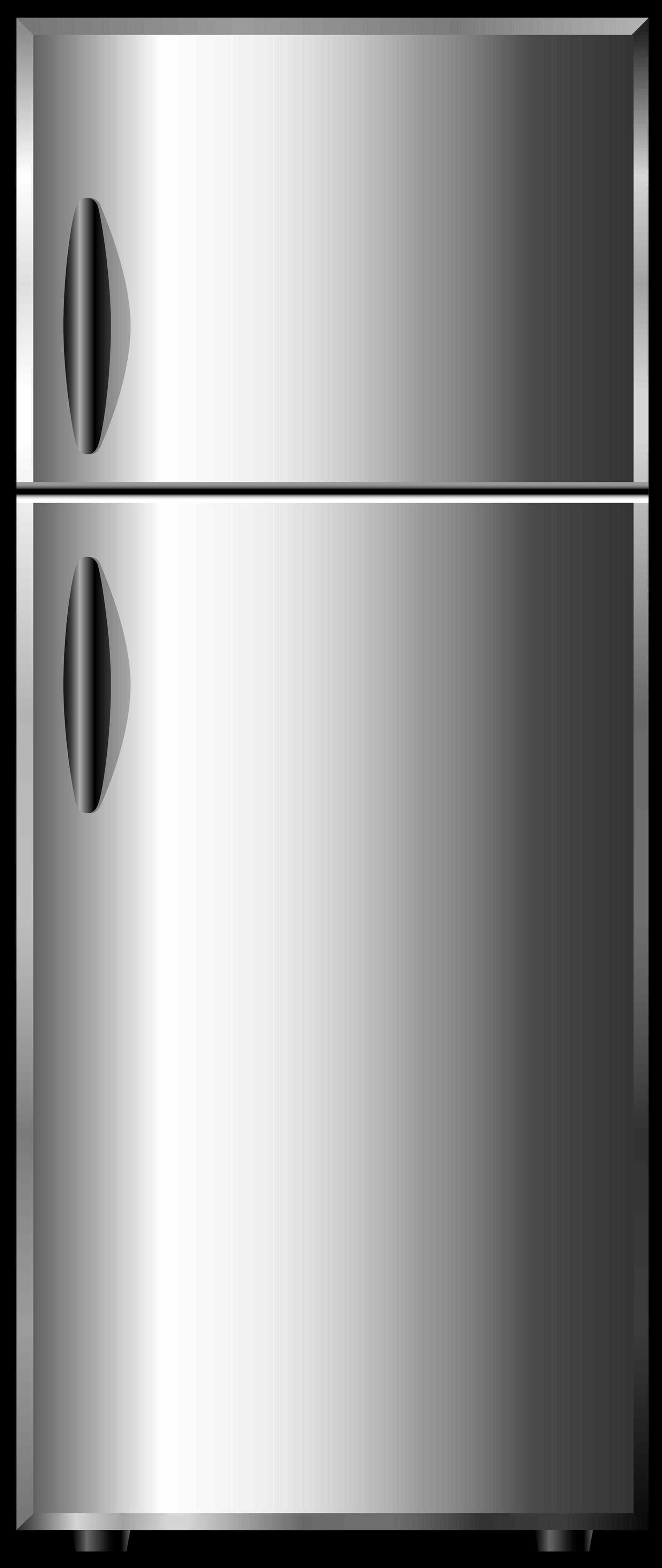 Fridge clipart fride. Art vector illustration grey