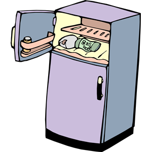 Fridge clipart fridge door. Free refrigerator open cliparts