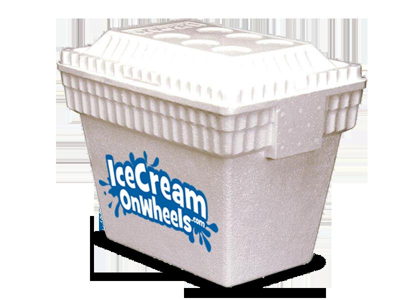 Cream truck and cart. Refrigerator clipart ice box