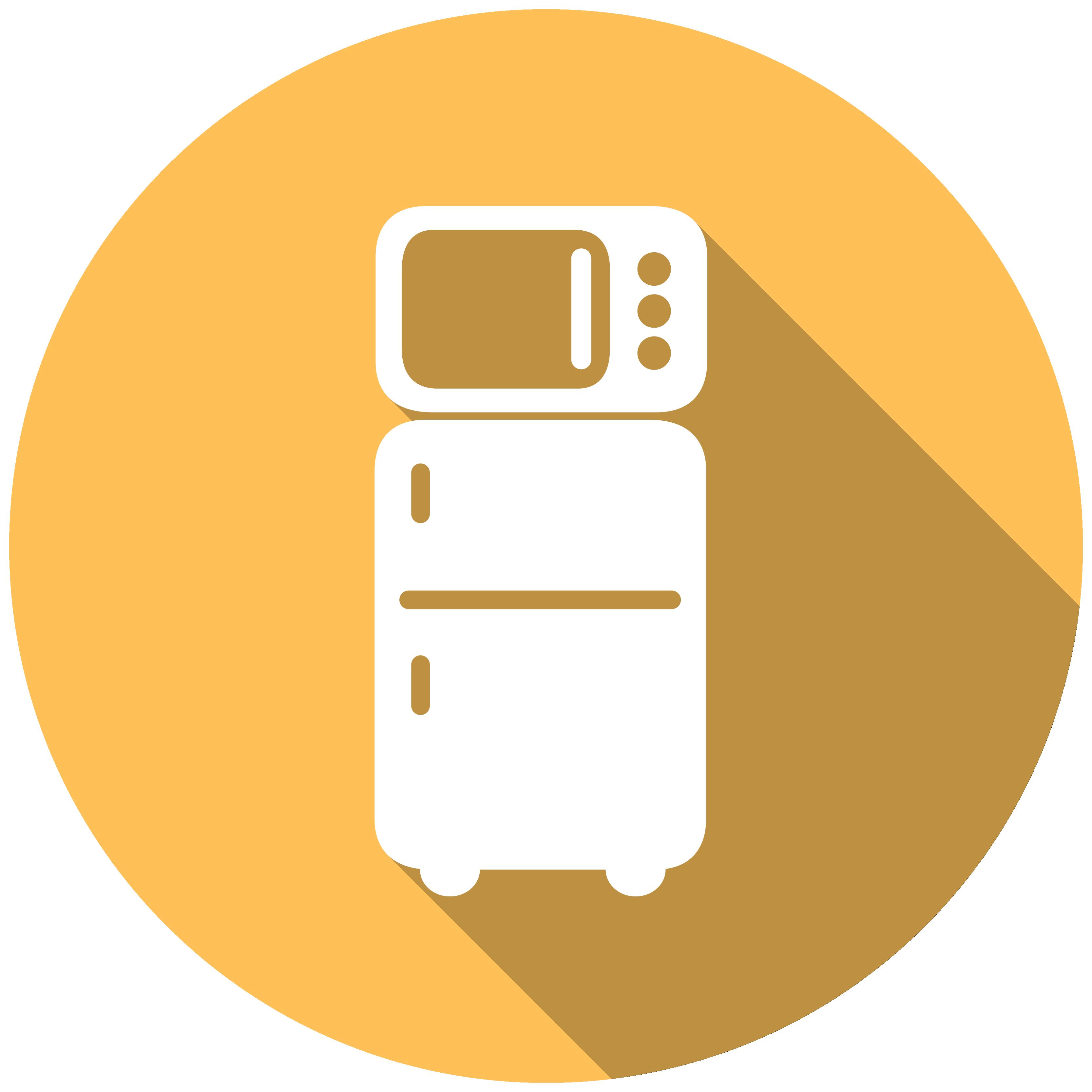 Refrigerator clipart mini fridge. Microwave rental icon housing