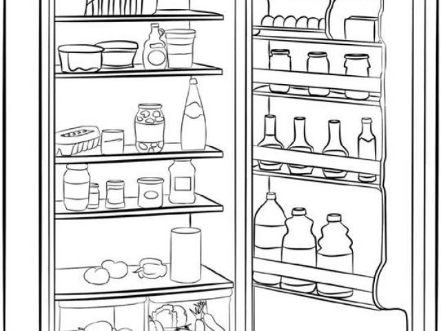Fridge clipart lack food. Free refrigerator download clip