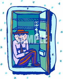 Fridge clipart man. A sitting inside image