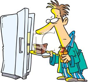 A colorful cartoon of. Fridge clipart man