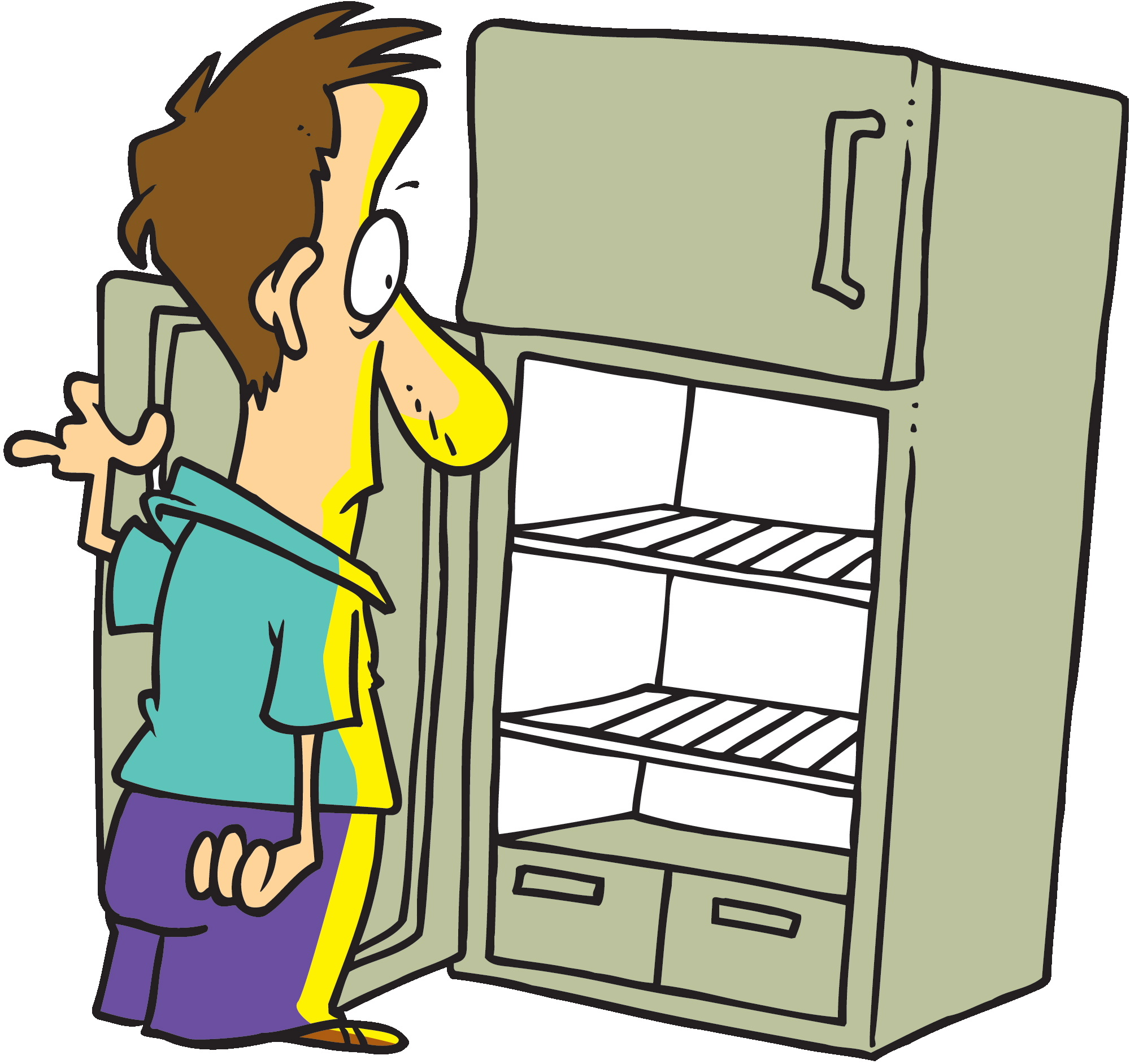 Collection of free download. Fridge clipart man
