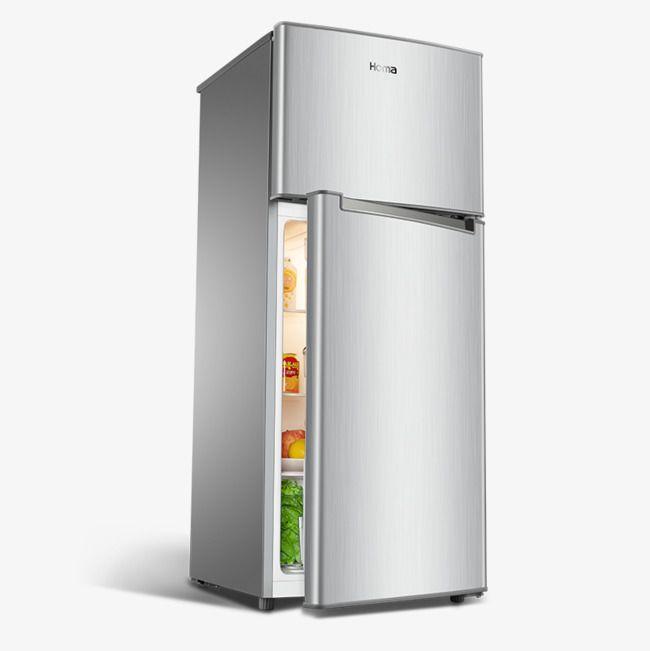 Refrigerator clipart mini fridge. Product material double door