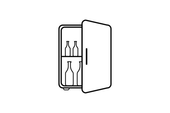 . Fridge clipart mini fridge