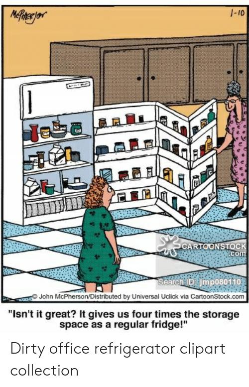 Fridge clipart office.  narejor cartoonstock com