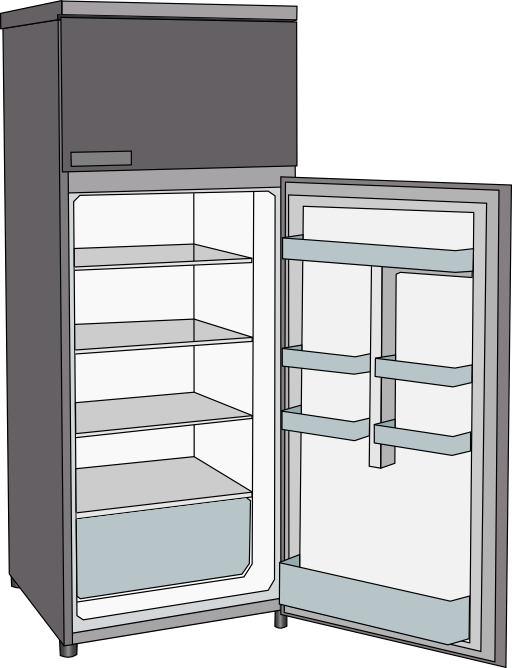 Frigorifero i royalty free. Refrigerator clipart refrigeration
