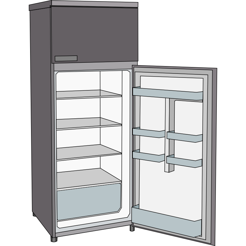 Fridge clipart refigerator.  collection of open
