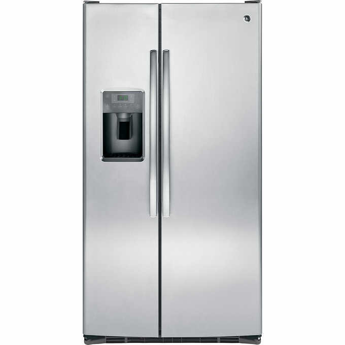Fridge clipart side by side. Ge cuft refrigerator with