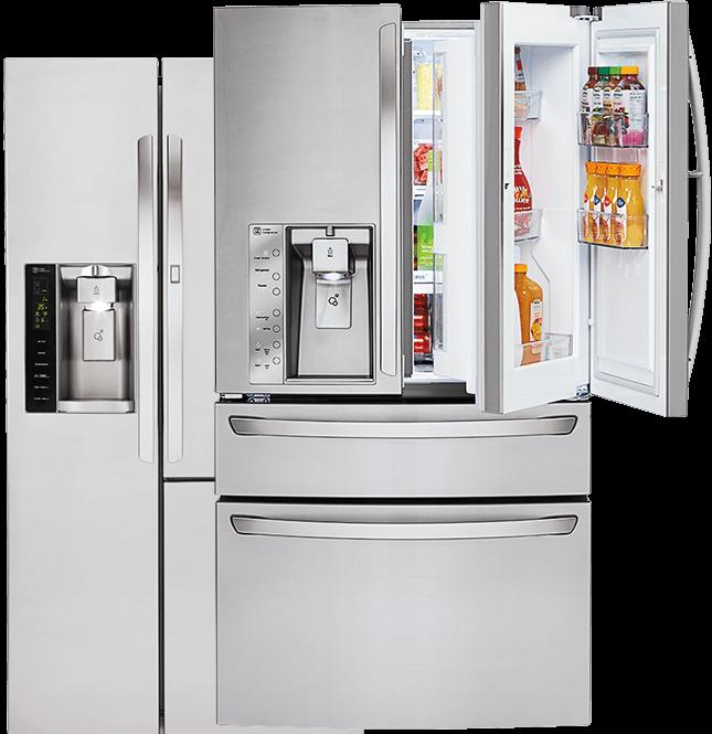 Lg refrigerator transparent background. Fridge clipart smart fridge