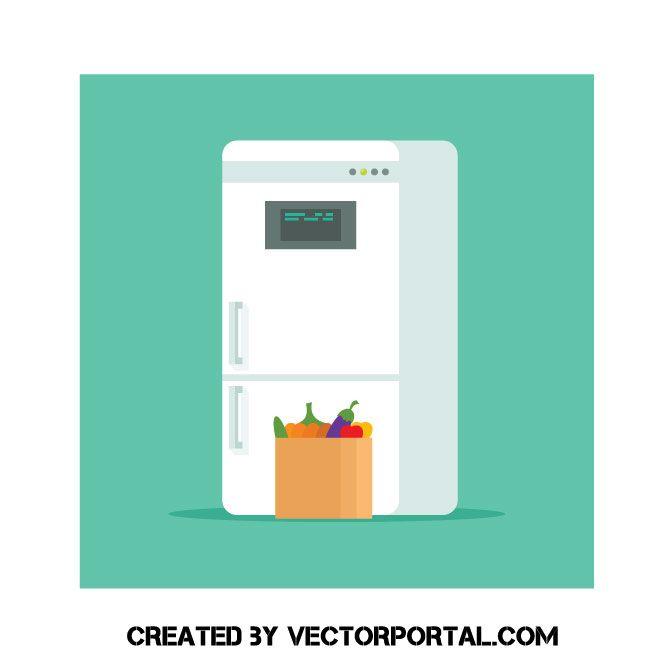 Vector clip art technology. Fridge clipart smart fridge