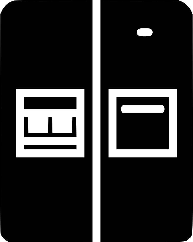 Door png icon free. Fridge clipart svg