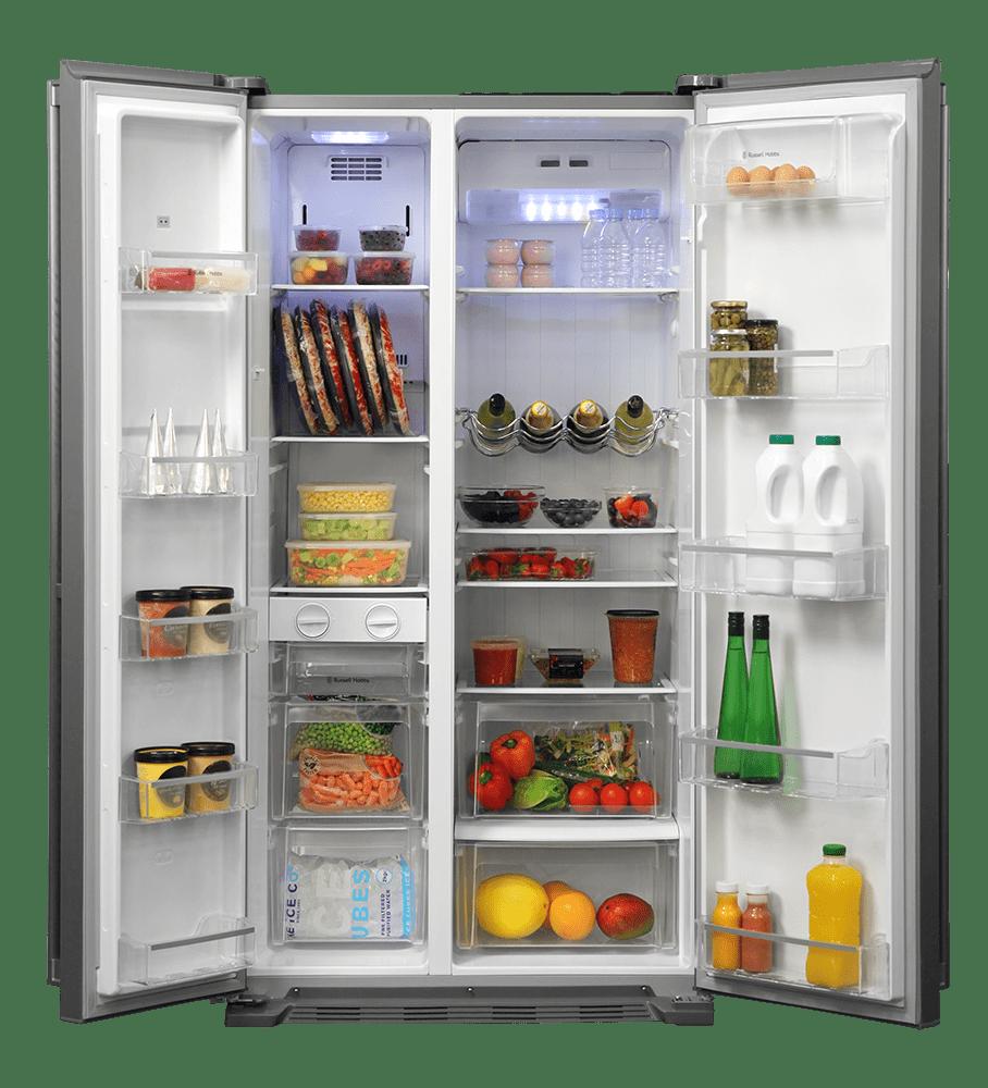 Refrigerator clipart refridgerator. Russel hobbs open fridge