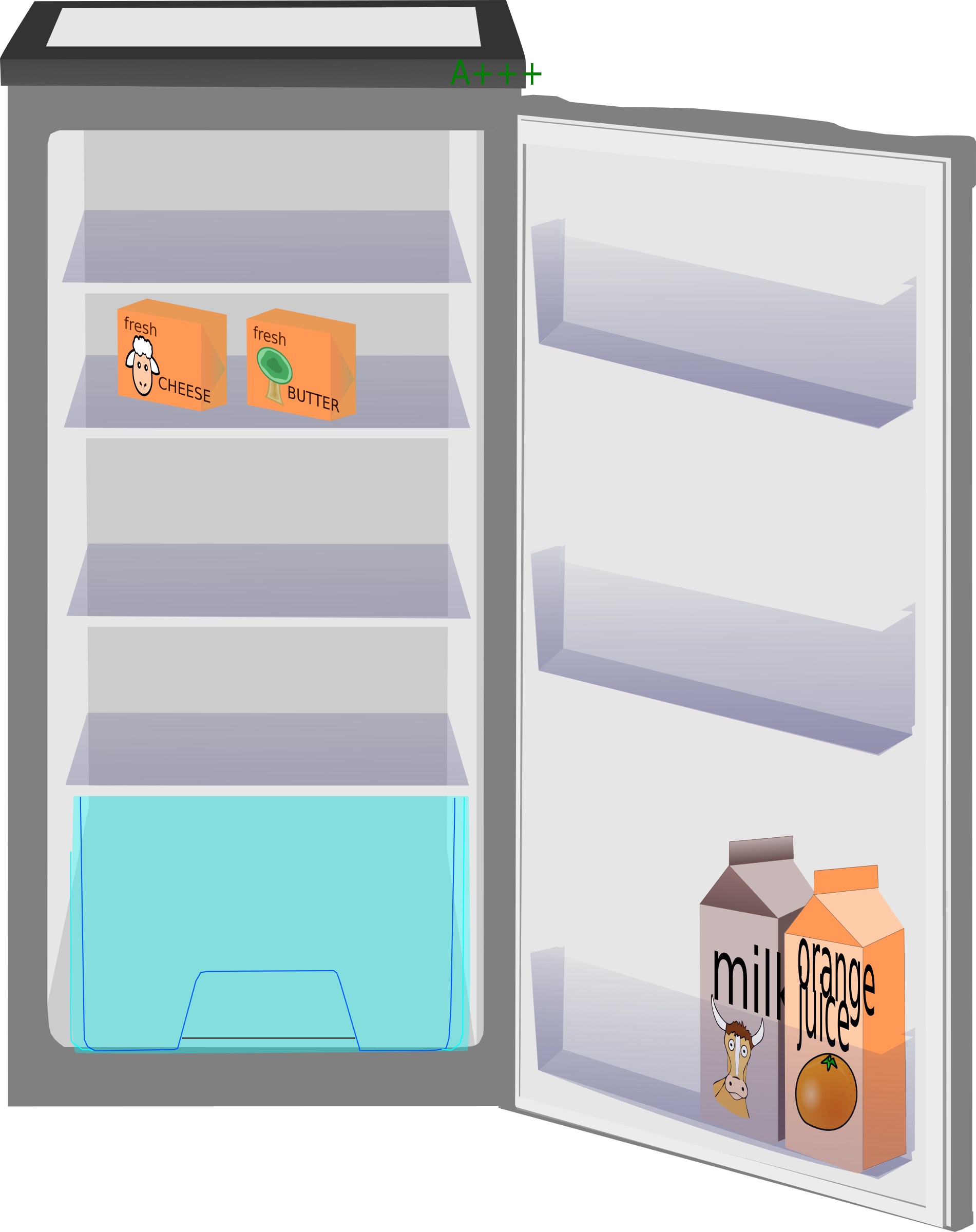 collection of refrigerator. Fridge clipart transparent background