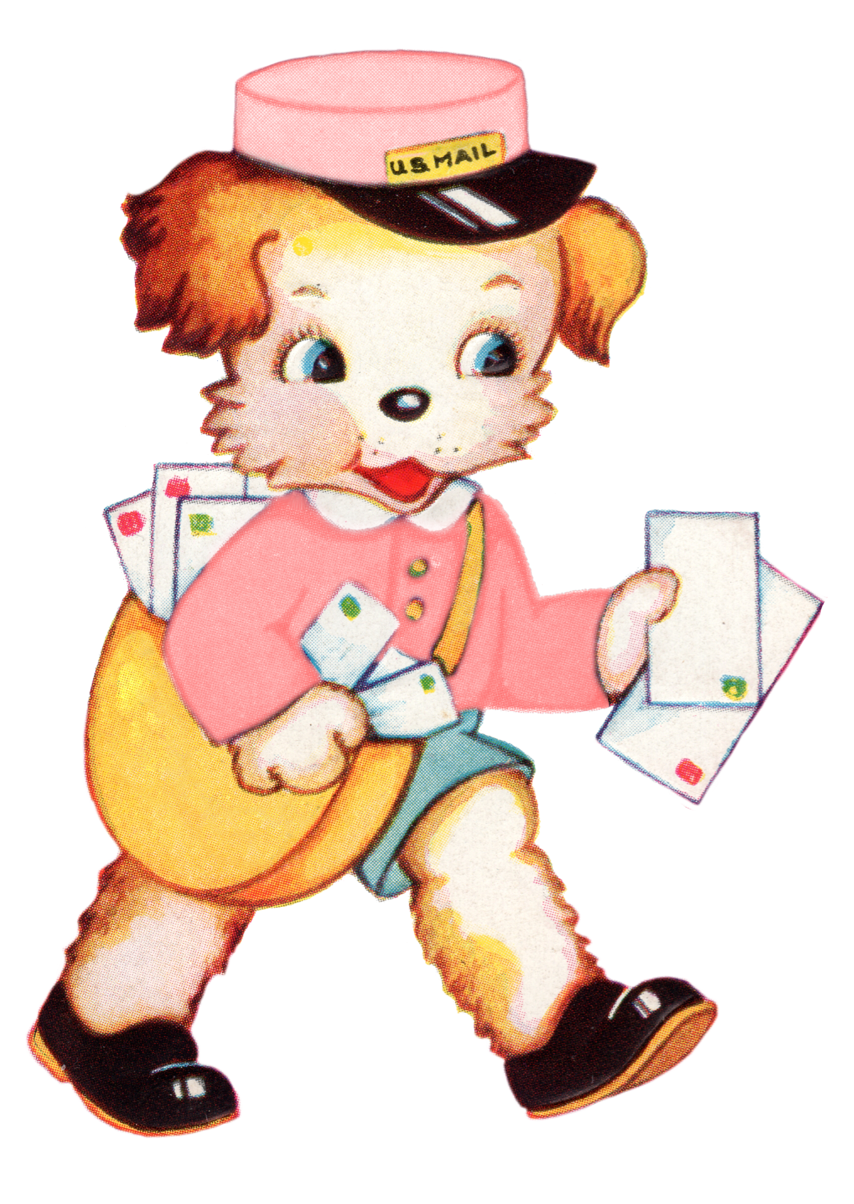 Mail clipart vintage. Royalty free images puppy
