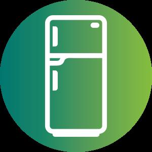 Refrigerator recycling programs provided. Fridge clipart waste energy