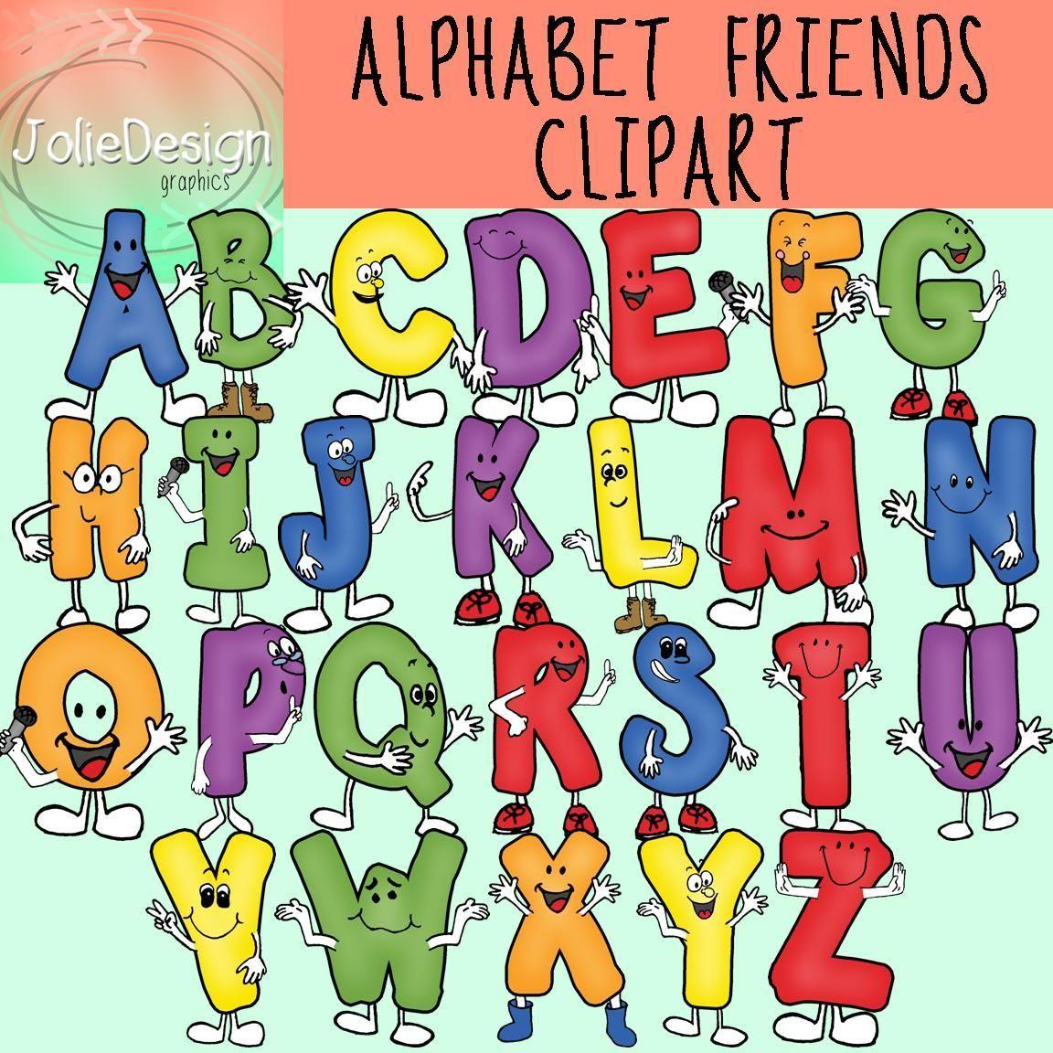 Friend clipart alphabet. Friends set color and