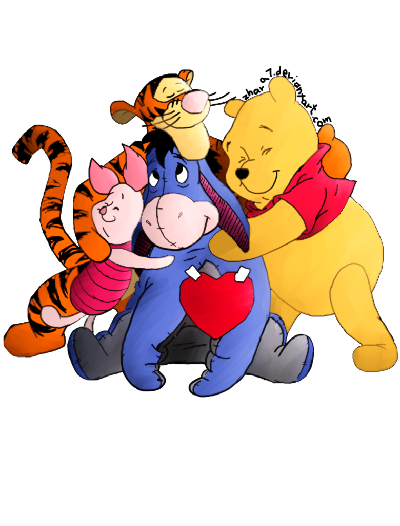 Friend clipart animated. Winnie the pooh and