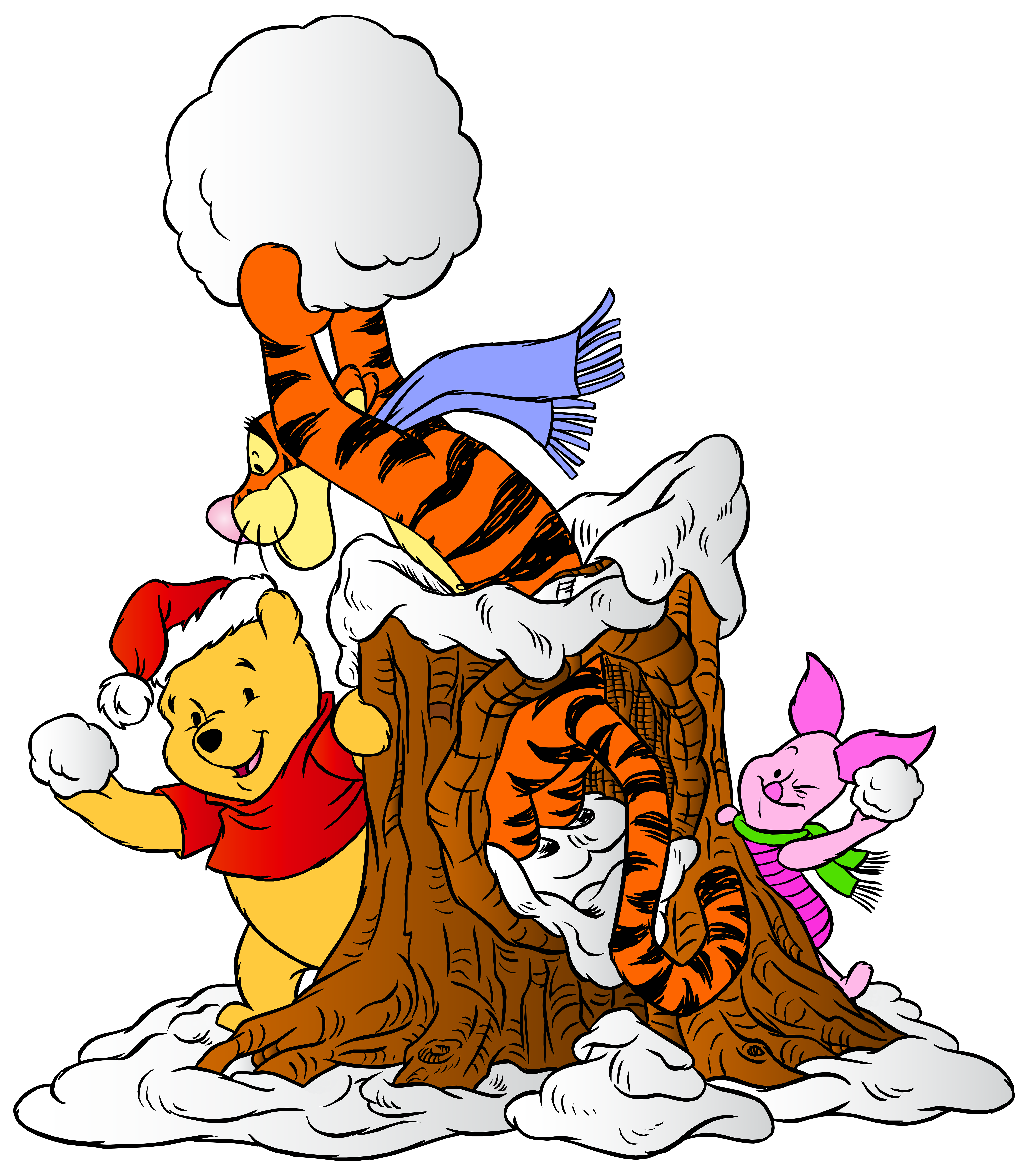 Winnie the pooh and. Friend clipart animated