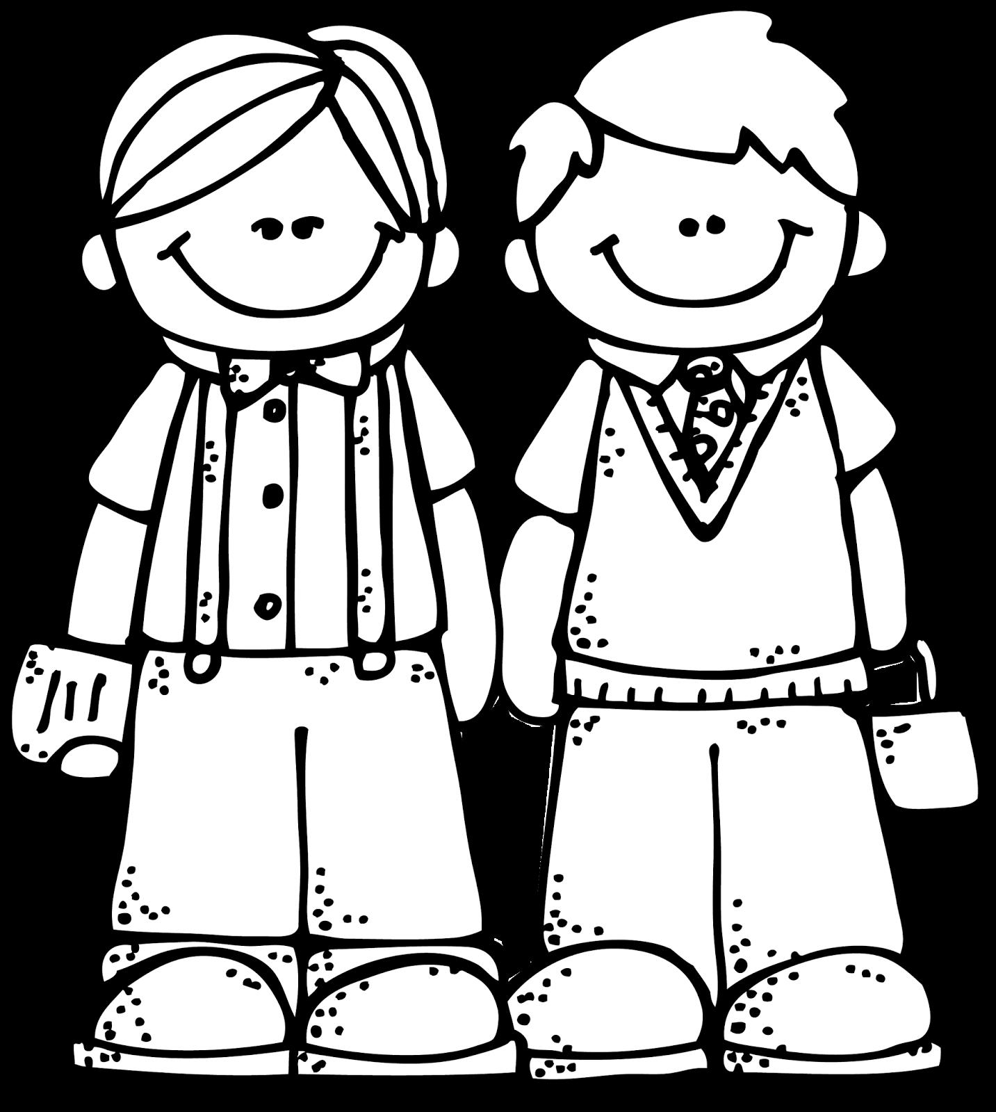 Friends art by melonheadz. Friendship clipart black and white