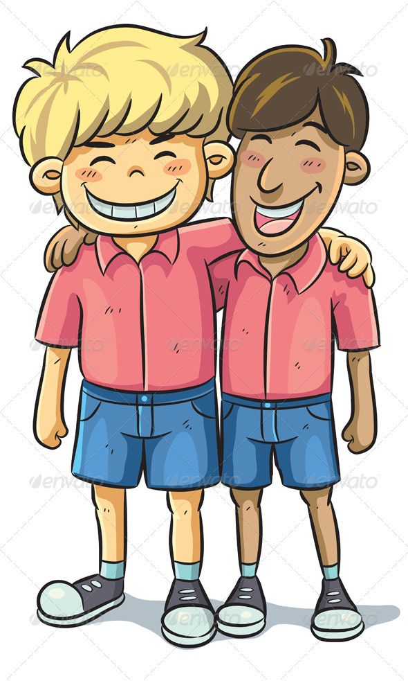 Graphicriver cartoon illustration of. Friendship clipart buddy