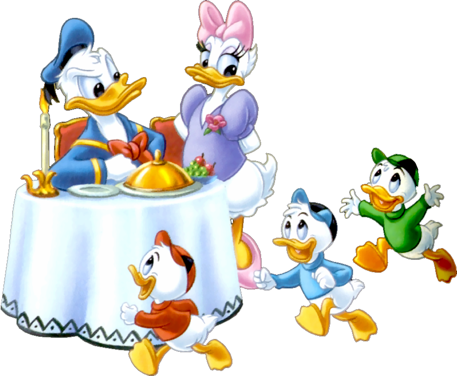 Friend clipart dinner. Donald and daisy boys