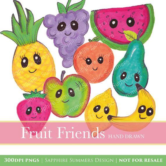 Fruit illustrations x cartoon. Fruits clipart friend