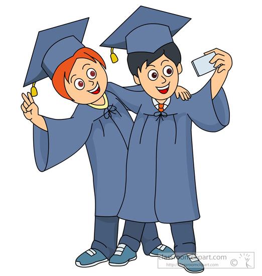 Student clipart graduation. Free friend download clip