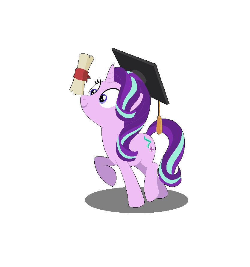 Purple clipart graduation. Starlight glimmer friendship graduate
