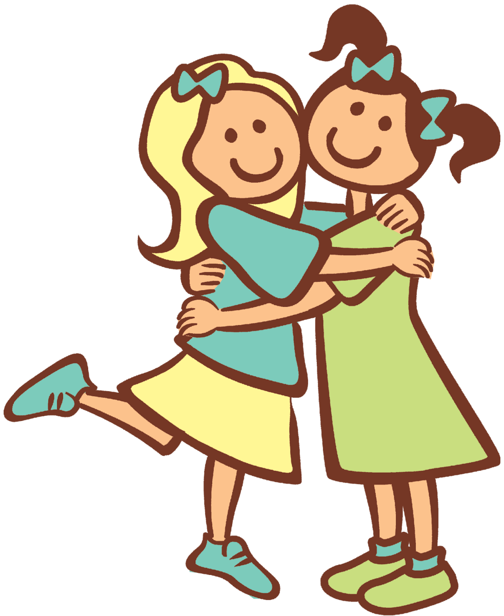 Hug clipart child hug. Good friend