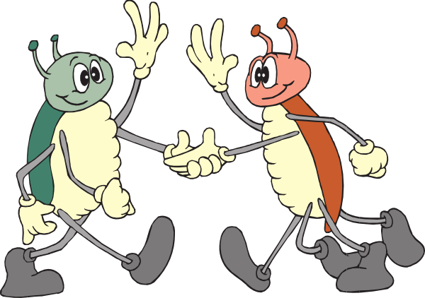 Friendly clipart. Bugs clip art at