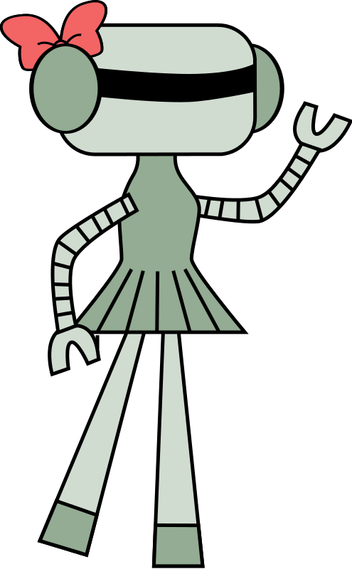 Friendly clipart advisory class. Robot with bow final