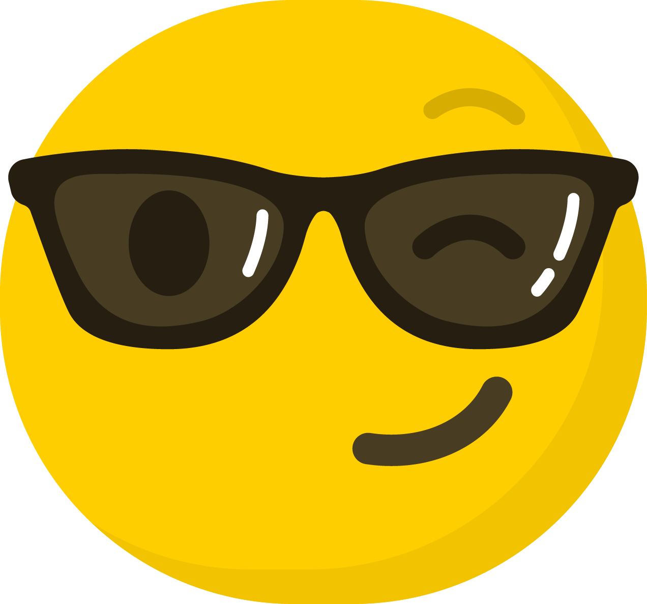 Friendly clipart emoticon. Smiley emoji computer icons