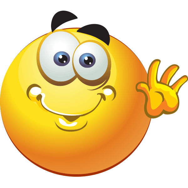 Friendly clipart emoticon. Hey there smileys smiley