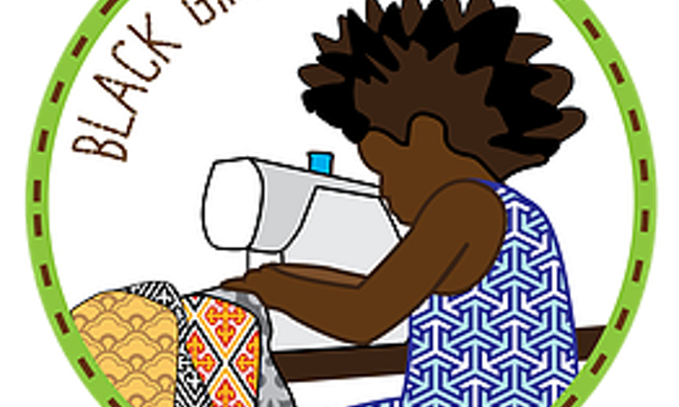 Black girls sew is. Young clipart me girl