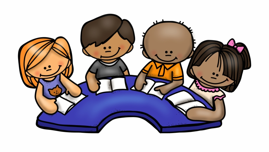 Differentiated reading groups . Friendly clipart group child